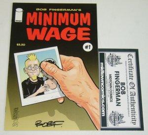Minimum Wage (2nd Series) #1 VF/NM signed by bob fingerman w/midtown comics COA