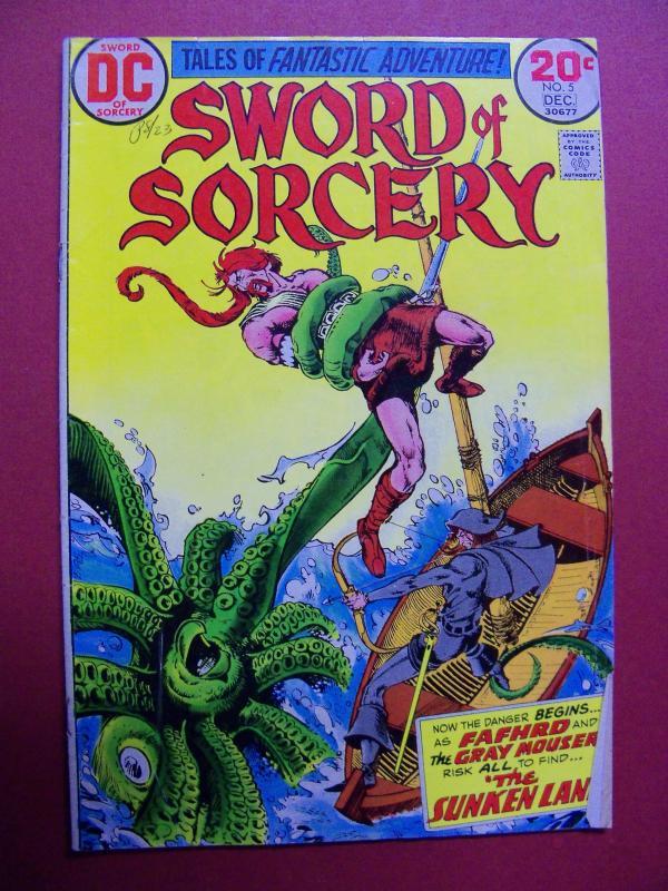 SWORD OF SORCERY #5 (VG+ 4.5 or better) DC COMICS 1973