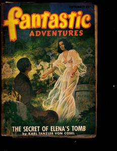 Fantastic Adventures September Pulp Magazine Science Fiction Sci-Fi Cosel NE3