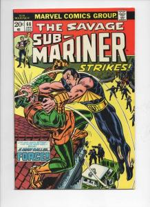 SUB-MARINER #68, VF+, Don Heck, Force, Mooney, Marvel, 1968 1974, more in store