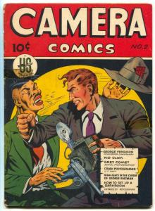 Camera Comics #2 1944- Violent Anti-Japanese cover- WWII Golden Age VG+