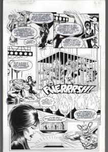 TOD SMITH-ELVIRA #163-CHALLENGE OF SILVER APE-ORIGINAL ART PG 10--QUEEN 'B' FN