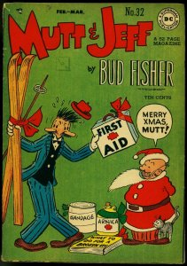 Mutt and Jeff #32 1948-Christmas Cover- DC Golden AGe Bud Fisher FN-