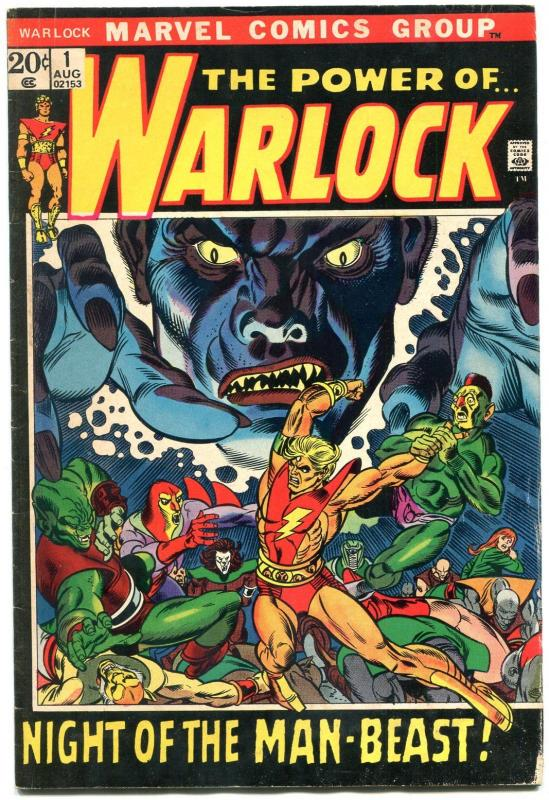 WARLOCK #1 1972----MARVEL COMICS---GIL KANE ART--ORIGIN VG/F
