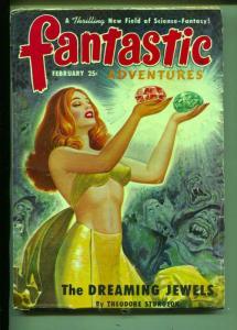 Fantastic Adventures-Pulp-2/1950-Theodore Sturgeon-Craig Browning-Ward Flaming