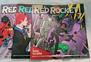 Lot of 3 RED ROCKET 7 1997-98 Comic Magazine #2 3 4 Dark Horse Mike Allred NM