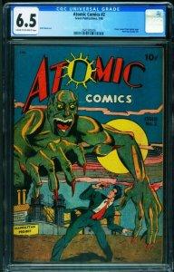 Atomic Comics #2 cgc 6.5 1946-Pre-Code Horror-Matt Baker-2042385006