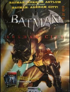BATMAN ARKHAM CITY Promo Poster, 22 x 34, 2011, DC Unused more in our store 391