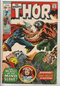 Thor the Mighty 172 Strict FN/VF Mid-High-Grade Odin Artist Jack The King Kirby