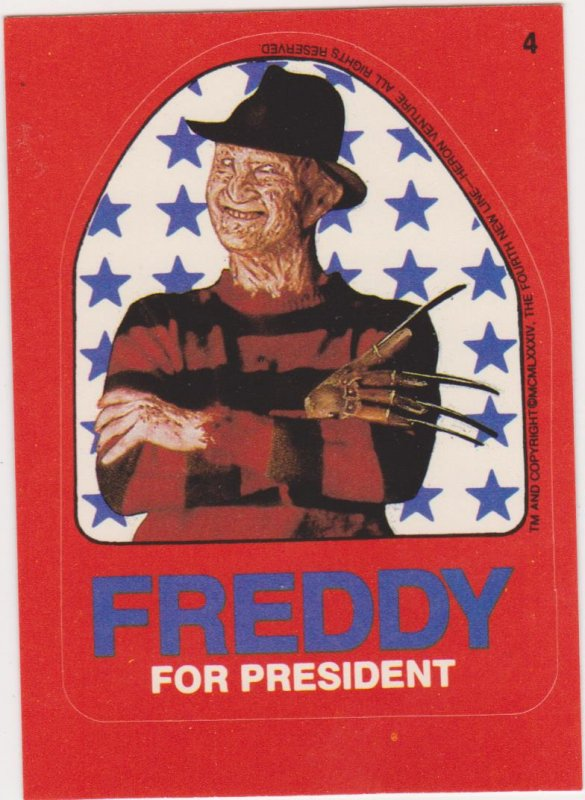 1988 Fright Flix Complete Sticker Set