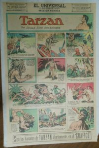 Tarzan Sunday Page #590 Burne Hogarth from 6/28/1942 in Spanish ! Full Page Size