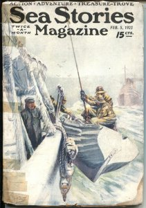 SEA STORIES--FEB 1923---ACTION--ADVENTURE--TREASURE--STREET & SMITH--PULP FICTIO