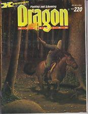 TSR DRAGON MAGAZINE #220 VG