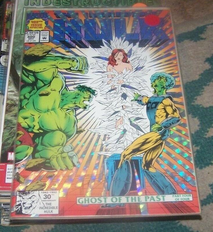 Incredible Hulk  # 400 DEC 1992 Marvel holographic foil cover +leader stan lee
