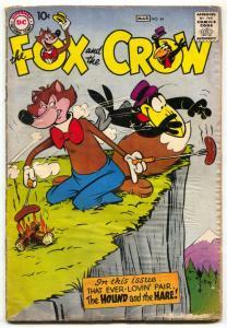 Fox and the Crow #54 1959- DC Funny Animal comic - FAIR