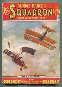 GEORGE BRUCE'S SQUADRON 01/1934-WWI-TINSLEY-BI-PLANES-DOG FIGHT-PULP-AIR WAR-fn