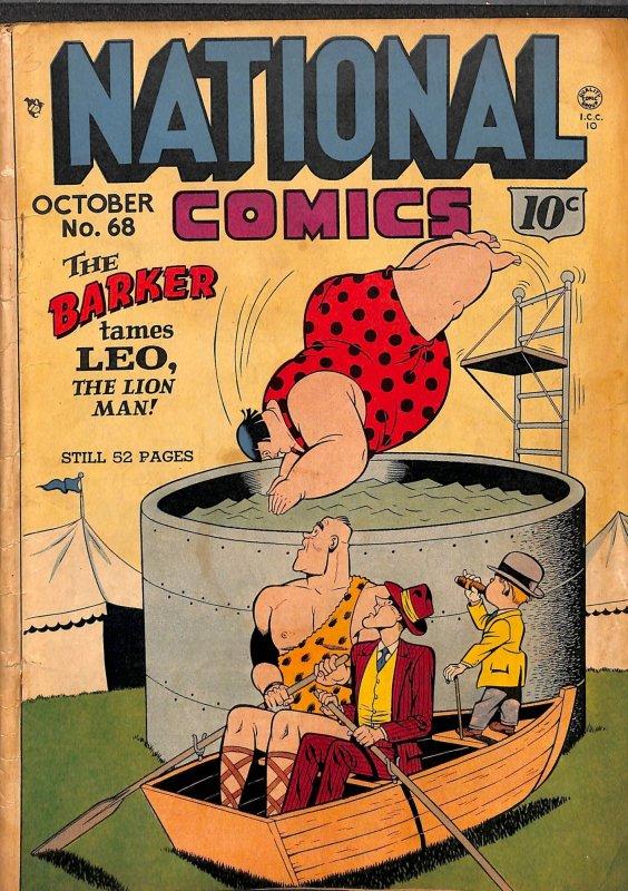 National Comics #68 VG+ 4.5
