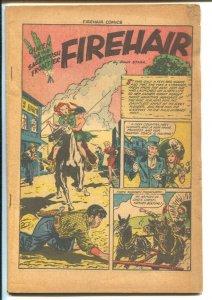 Firehair #2 1948-Fiction House-Good Girl Art-girl fight panels-P