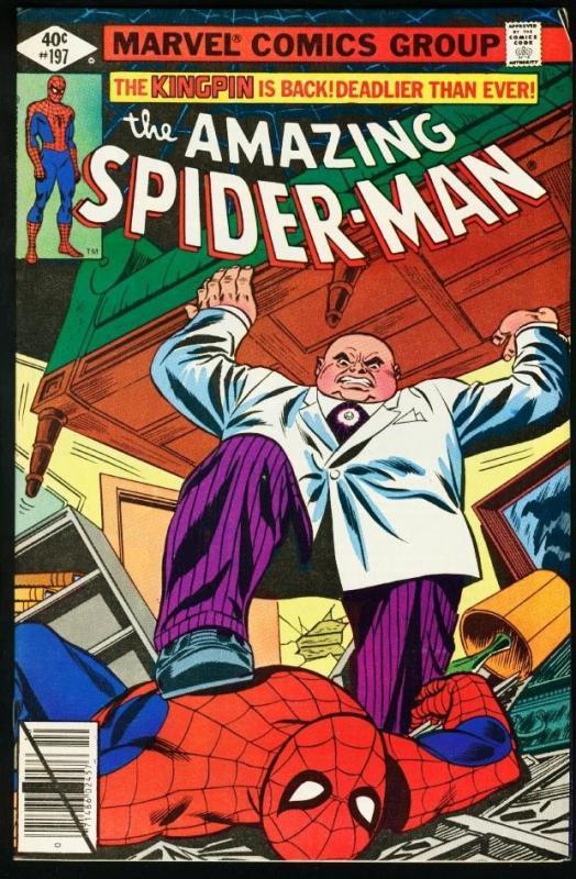AMAZING SPIDER-MAN #197-1979-KINGPIN-MARVEL-fine/very fine FN/VF