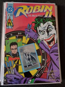 ROBIN 2 #2 JOKER HOLOGRAM BATMAN COVER