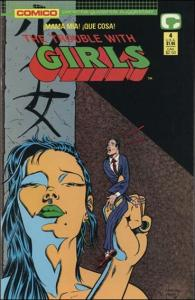 Comico THE TROUBLE WITH GIRLS (1989 Series) #4 FN