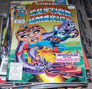 Captain America # 413 1993 Marvel modam avengers shang-chi SHIELD FALCON