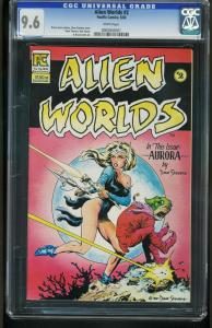Alien Worlds #2 1983-CGC GRADED 9.6 -WHITE PAGES-DAVE STEVENS 0005945001