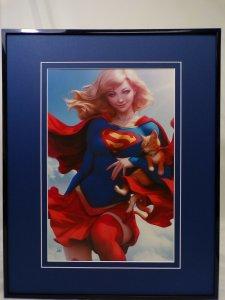 Supergirl #26 Framed 16x20 Poster Display DC Comics Artgerm GGA