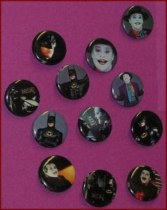 BATMAN JOKER 1989 MOVIE BUTTON SET  12 DIFF NICHOLSON