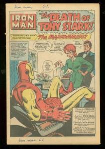 TALES OF SUSPENSE #61 1965-IRON MAN-MANDARIN-CAP AMERICA FR