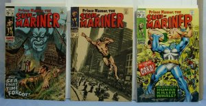 Sub-Mariner (Marvel Comics, 1968) 3 Issues #7 #16 & #23 1st App. Orka Nice Books