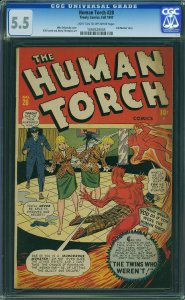 Human Torch #28 (Timely Comics, 1947) CGC 5.5