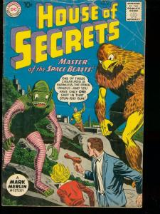 HOUSE OF SECRETS #40 1961 DC COMICS MARK MERLIN ALIENS VG-