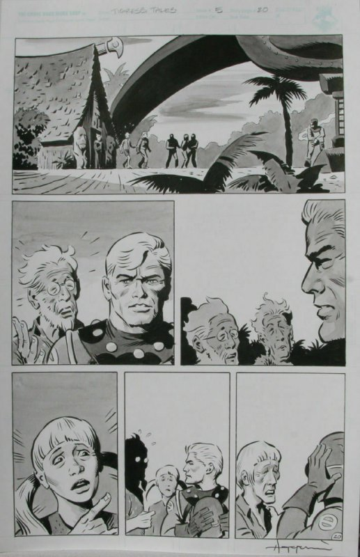 TIGRESS TALES #5 Original Mike Hoffman art, Page #20, Signed, published
