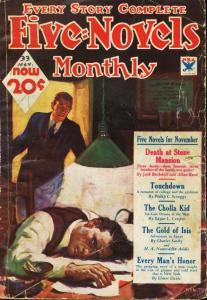 FIVE NOVELS PULP 1933 NOV CRIME HORROR MYSTERY PULP VG