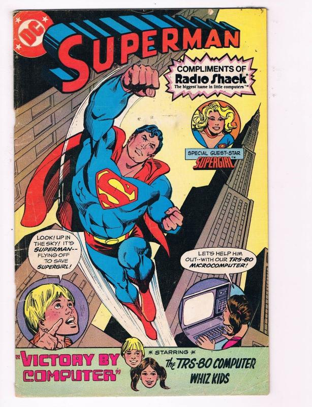 Superman # 1 Compliments Of Radio Shack DC Comic Book VG/FN Supergirl S84