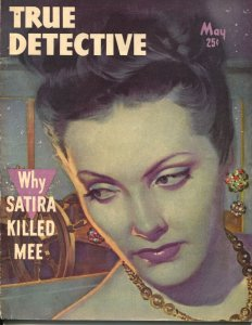 True Detective 5/1948-TD-Richard Cardiff  moody portrait cover-Hoover-VG+