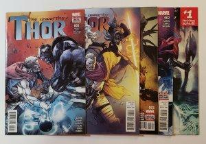 The Unworthy Thor #1-5 Set Marvel Comics 2017 VF/NM