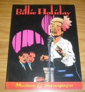 Billie Holiday SC FN+ fantagraphics graphic novel - munoz - sampayo  jazz singer