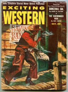 Exciting Western Pulp October 1953- Last issue- Dancehall Gal FN