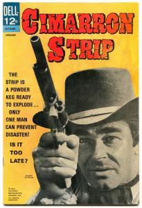 Cimarron Strip #1 1968- Dell Western- Stuart Whitman F/VF