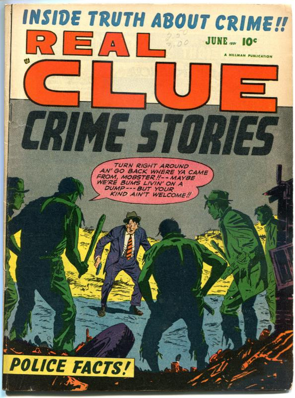 REAL CLUE CRIME STORIES V6 #4, VG+, 1951, Golden Age, Pre-code, more in store