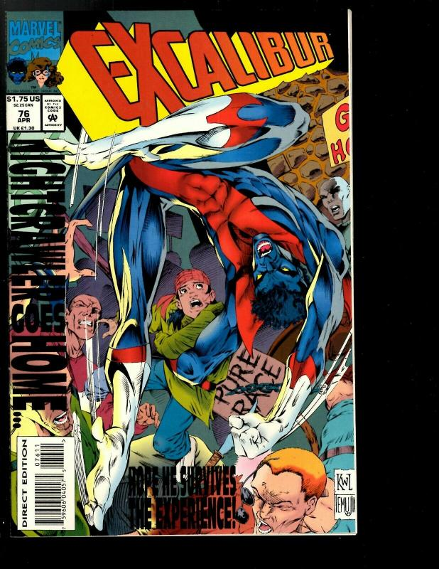 12 Excalibur Deluxe Marvel Comics # 73 74 75 76 77 78 79 80 81 82 83 84 JF26