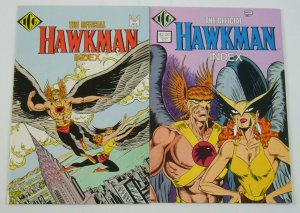 Official Hawkman Index #1-2 VF complete series - hawkgirl - dc comics ICG set