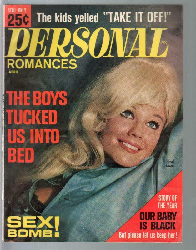 Personal Romances 4/1954-Ideal-exploitation-pulp thrills-posed photos-FN-