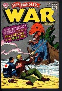 STAR SPANGLED WAR STORIES #135 1967 DC DINOSAUR STORY HIGH GRADE