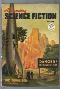 Astounding Science Fiction British Edition 8/1947-sci-fi pulp fiction-Williamson