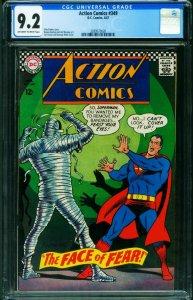 Action Comics #349 CGC 9.2 1967-Superman-Mummy cover-Supergirl 2039573020