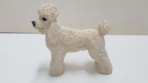 Figura de perro de resina: caniche de 7x7 cm