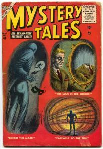 Mystery Tales #41 1956- Atlas horror comic- Man in the mirror VG-